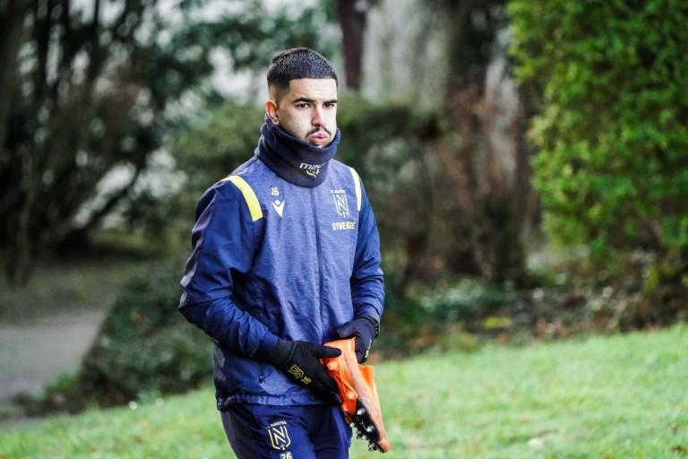 Imran Louza, milieu de terrain du FC Nantes.