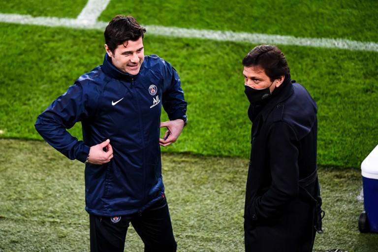 PSG : Leonardo et Mauricio Pochettino.