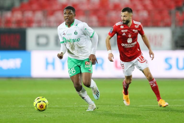 Zaydou Youssouf et Franck Honorat, lors de Stade Brestois - ASSE.