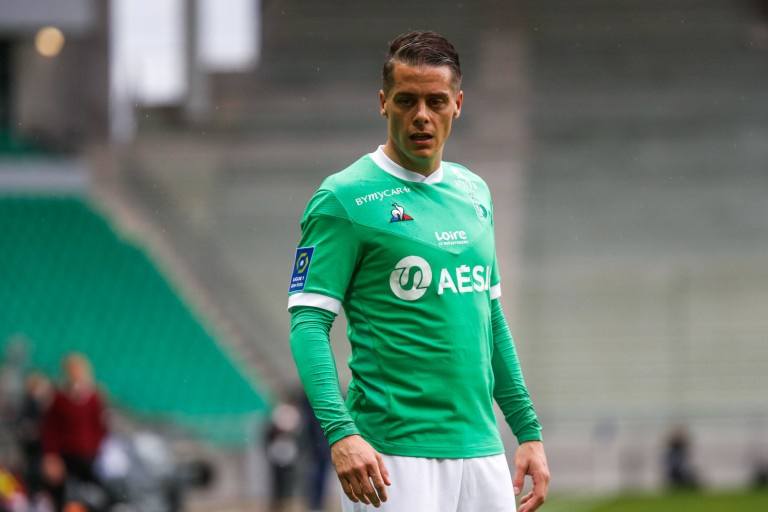 Romain Hamouma, attaquant en fin de contrat à l'ASSE.
