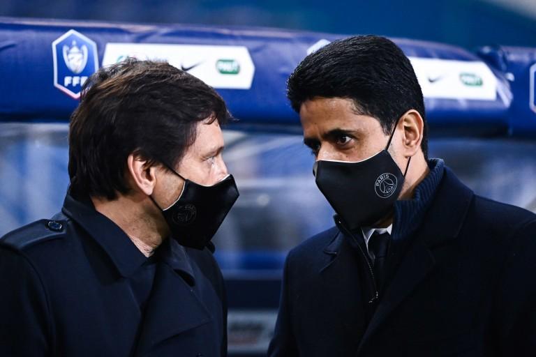 PSG Mercato : Nasser Al-Khelaïfi et Leonardo.