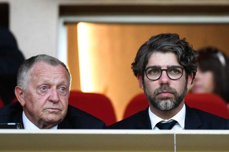 Jean-Michel Aulas, président de l' OL et Juninho, directeur sportif.