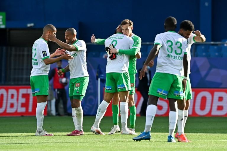 L'ASSE en joie après sa victoire à Montpellier.