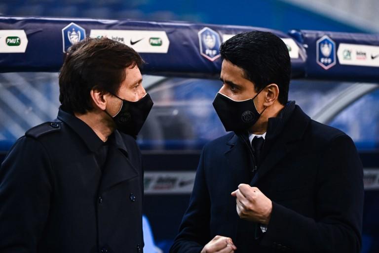 Leonardo, directeur sportif, et Nasser Al-Khelaïfi, président du PSG.