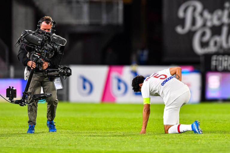 Marquinhos était excédé à l'issue du match entre le Stade Rennais et le PSG de Ligue 1.