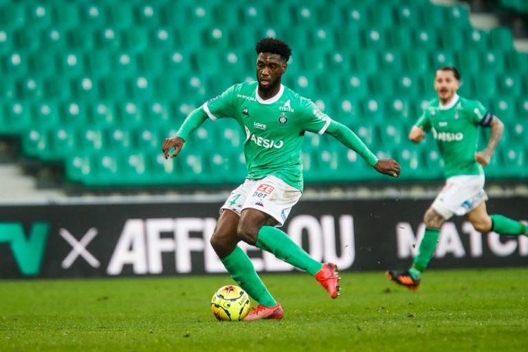 Jean-Philippe Krasso, attaquant de l' ASSE prêté au Mans FC.