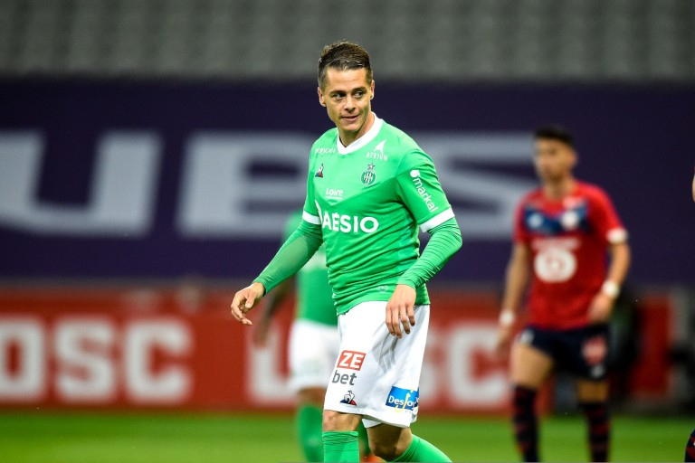Romain Hamouma, attaquant de l'ASSE, devrait quitter le club à la fin de la saison.
