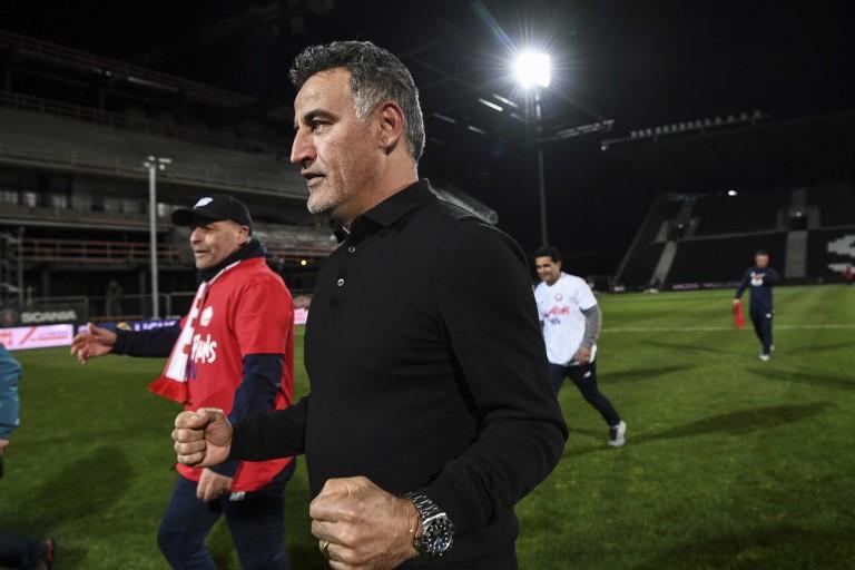 Christophe Galtier, coach du LOSC champion de France 2021.
