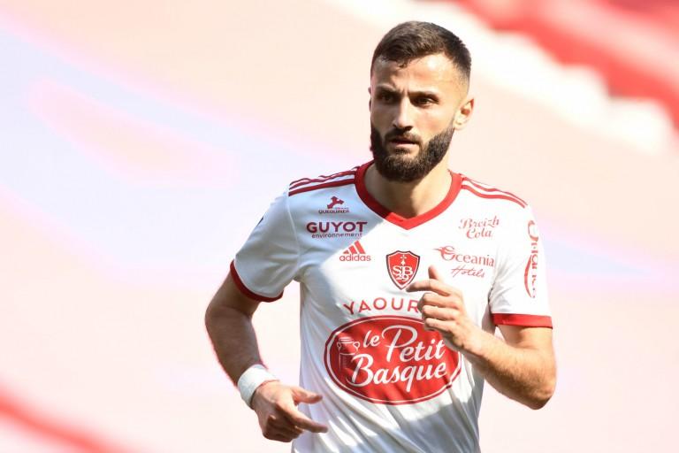 Franck Honorat, attaquant du Stade Brestois.
