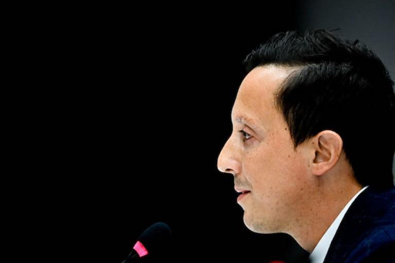 Président de l' OM, Pablo Longoria était en conférence de presse.