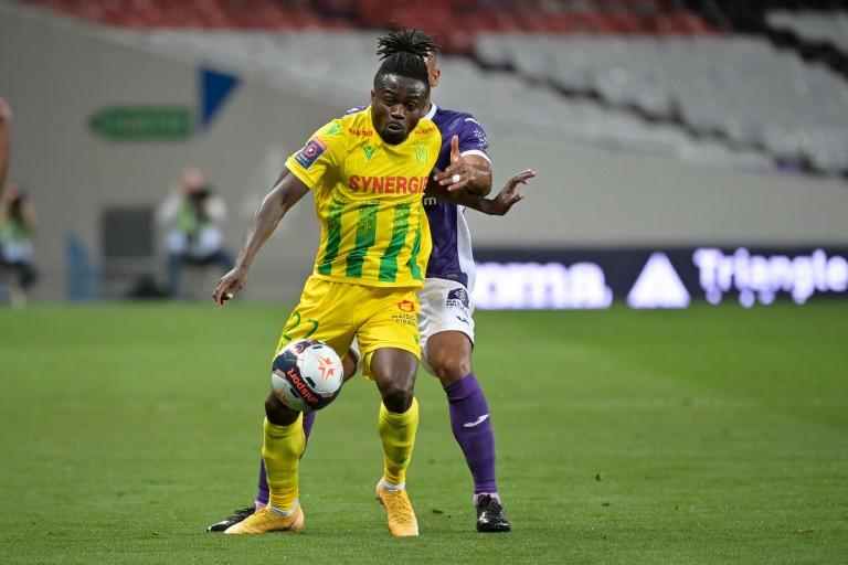 Moses Simon sous les couleurs du FC Nantes.