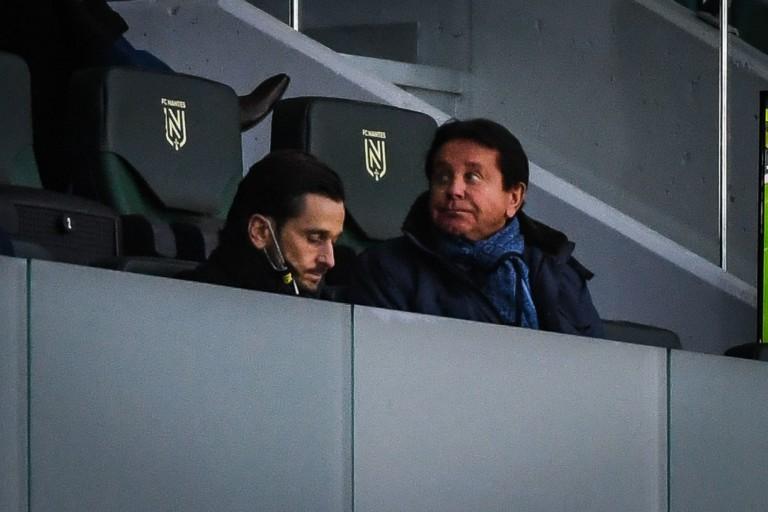 Waldemar Kita, président du FC Nantes (à droite) et son fils Franck.