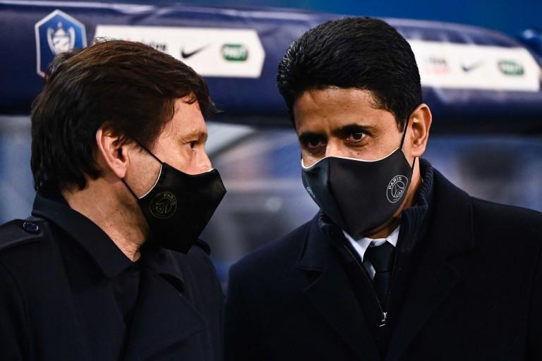 PSG Mercato : Nasser Al-Khelaïfi et Leonardo en discussions.