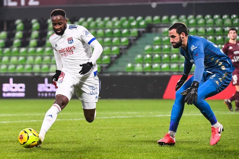 Moussa Dembélé, attaquant de l'OL.