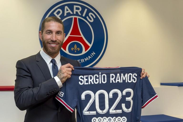 Sergio Ramos s'est engagé en faveur du PSG jusqu'en 2023.