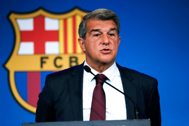 Le président du Barça, Joan Laporta, mise sur ses pépites pour les saisons à venir.