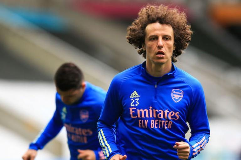 David Luiz sous le maillot d'Arsenal.