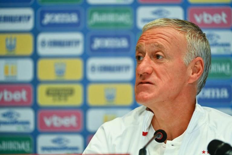 Didier Deschamps, entraîneur de l'équipe de France, en conférence de presse.
