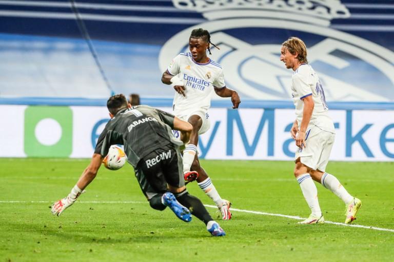 Édouard camavinga marque lors de Real Madrid - Celta Vigo