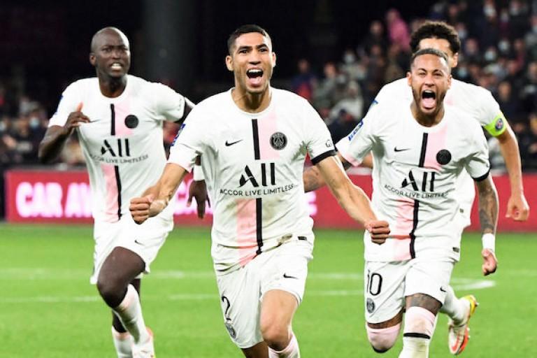 Achraf Hakimi, heureux au PSG.