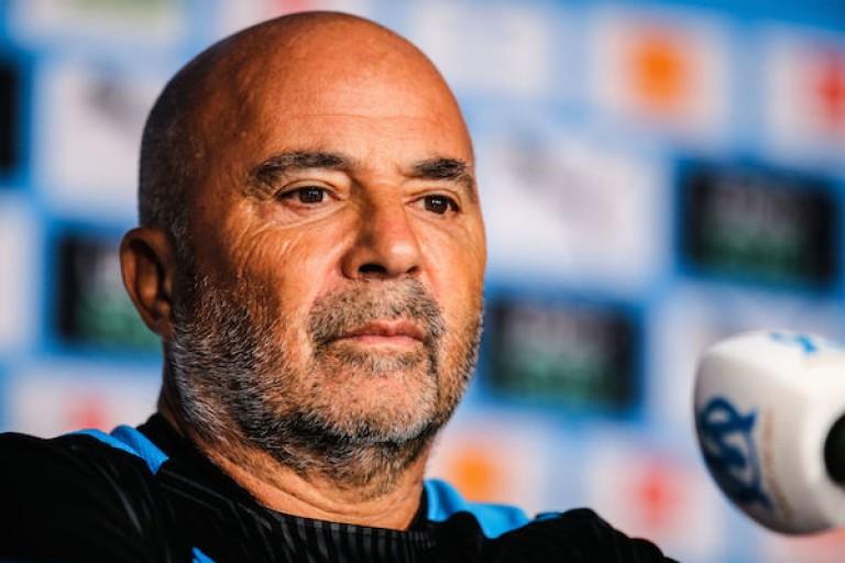 Jorge Sampaoli, coach de l' OM, était en conférence de presse.