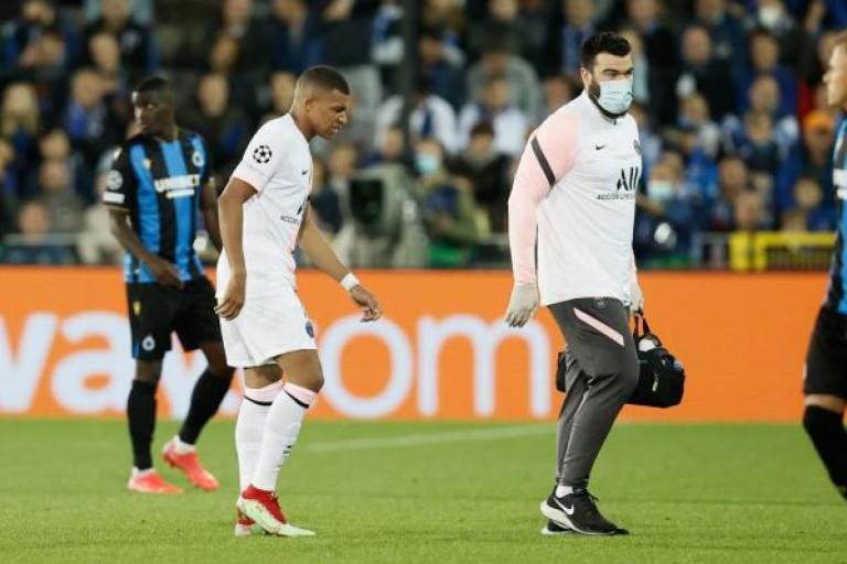 Kylian Mbappé sorti sur blessure contre Bruges