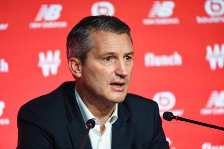 Olivier Létang, président du LOSC, en conférence de presse.