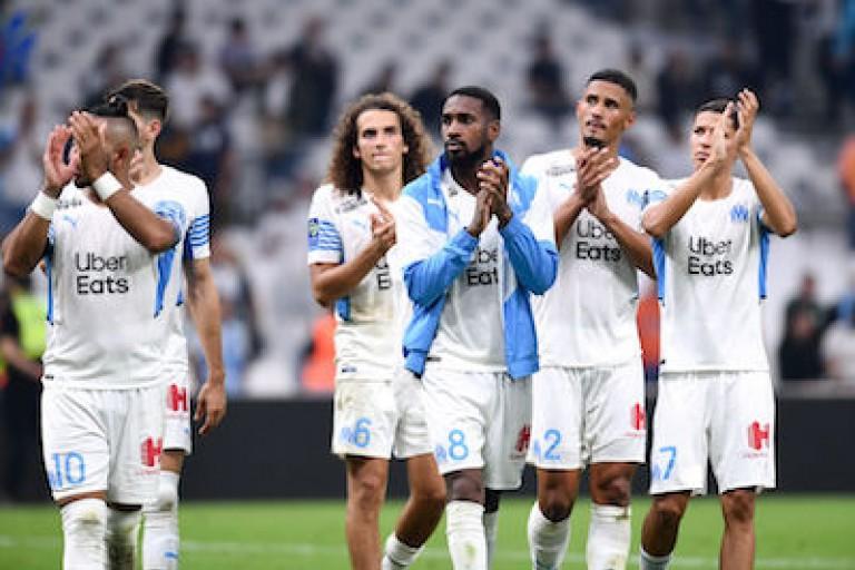 Quelques joueurs de l' OM après défaite face au RC Lens.