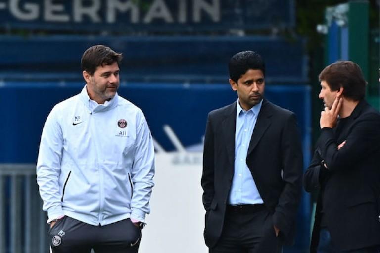 Les dirigeants du PSG au Parc des Princes.