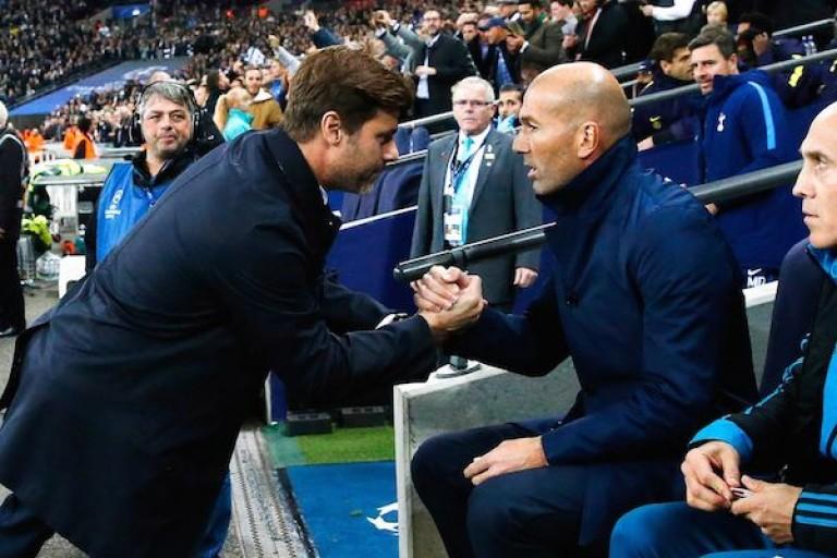 Entraineur du PSG, Mauricio Pochettino et Zinedine Zidane