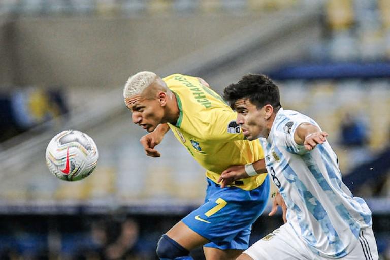 Richarlison a réagi après l'arrêt du match entre le Brésil et l'Argentine.