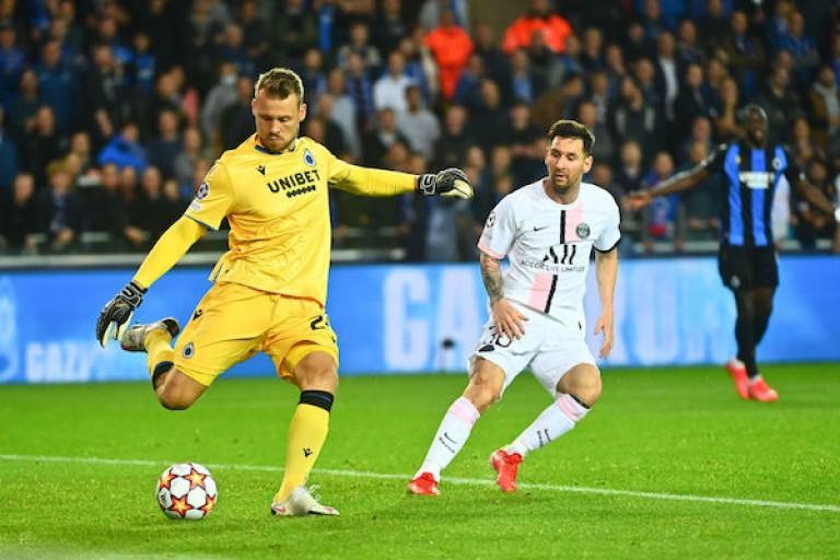 Simon Mignolet et le FC Bruges ont passé une soirée plutôt tranquille face au PSG.