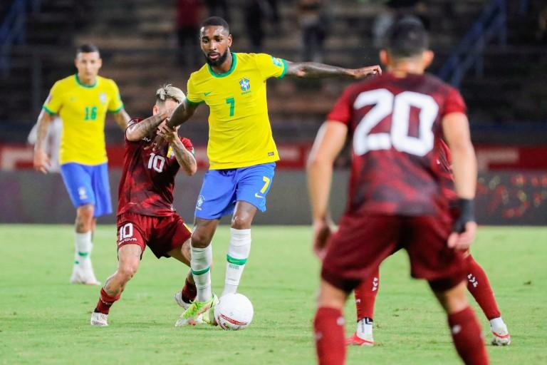 Gerson sous le maillot du Brésil.