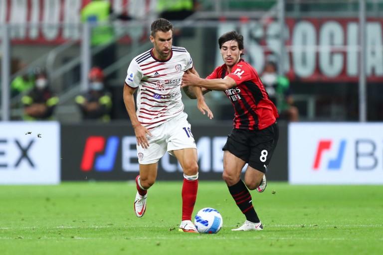 Le joueur de l' OM, Kevin Strootman,  était prêté à Cagliari cette saison.