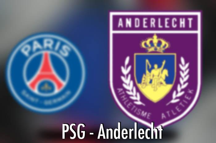 C1 PSG – Anderlecht : Les compositions des deux équipes !