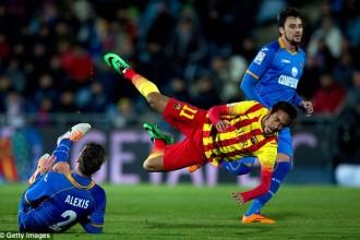 Getafe : Barcelone, Neymar avait blessé les testicules de Ruano !