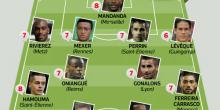 Onze type : Le PSG absent, l'ASSE, Reims et Lyon progressent